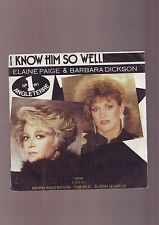 disque 45 tours - - elaine page & barbara dickson - i know him so well - /