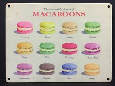 Vintage Style Metal Macaroons Sign Kitchen Bakery Retro Wall Decor 20x15cm