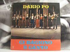 DARIO FO - CI RAGIONO E CANTO - VOL. 1 - LP VG+ COVER VG- C.T. LA COMUNE