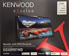 Kenwood DDX8901HD In-Dash 2-Din Monitor Receiver with Built-inBluetooth HD Radio