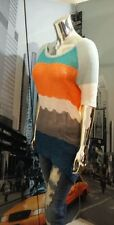 Anthropologie Topographic Pullover Sweater Top By Moth Size XS Blue Motif