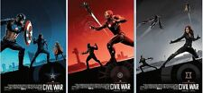 Marvel Captain America CIVIL WAR AMC IMAX Poster Exclusive COMPLETE SET***NEW***