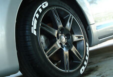 "Tire Letters NITTO  - 1.25"" For 18"" and 19"" Wheels (4 decal kit)"