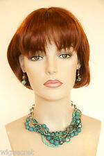 Timeless Short Straight Flapper Style Bob with Bangs Skin Top Wigs in 29 Colors