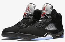 Brand New Mens Air Jordan 5 Retro OG 845035-003 Black/Fire Red Size 14