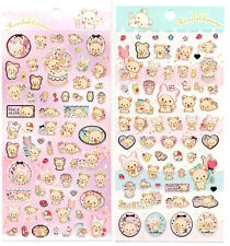 Sanx San-x Korilakkuma Rilakkuma Sticker Sheet stickers kawaii Japan Pastel Lot