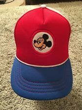 Vintage Walt Disney Mickey Mouse SnapBack Trucker Hat, Youth Size, EXCELLENT!!