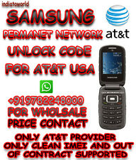 Samsung SGH-A167 SGH-257 SGH-877 UNLOCK CODE AT&T USA  OUT OF CONTRACT  ONLY