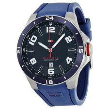 Tommy Hilfiger Blue Dial Blue Silicone Mens Watch 1790862