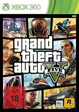 Microsoft XBOX 360 gioco GRAND THEFT AUTO V GTA 5 Five USK 18