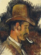 PAUL CEZANNE FRENCH MAN PIPE OLD ART PAINTING POSTER PRINT BB6228A