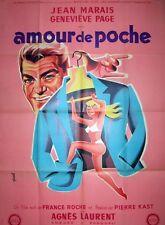 affiche amour de poche,Jean Marais,Pierre Kast,Hurel,originale 1957,Lithographie