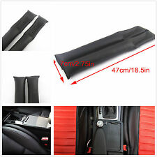 2 Pcs Black Artificial Leather Auto SUV Seat Gap Soft Pad Filler Holster Blocker