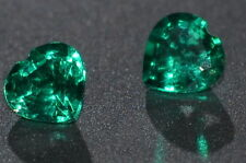 A Single 4mm Heart Cut Genuine Green Emerald !!!