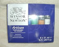 Winsor & Newton ARTISAN Water Mixable Oil Color~6 Pc. Starter Set *NEW*