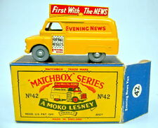 "Matchbox RW 42A Evening News Van feine graue Räder top in ""B"" Box"