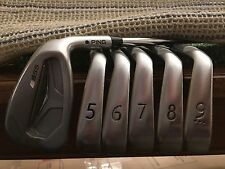 PING S55 5-PW Irons Regular STEEL CFS +0.75 INCH BLUE DOT USED