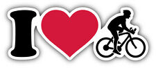I Love Cycling Label Car Bumper Sticker Decal 6'' x 2''