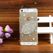 Bling Clear Crystal Diamonds Soft TPU back Ultra-thin Phone Case Cover Skin M-1