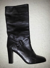 REISS DARK BROWN SOFT LEATHER BOOTS SIZE 7 EU40 RRP £175