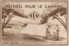 Y7174 Materiel pour le Camping IDEAL - Pubblicità d'epoca - 1930 Old advertising