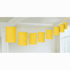 12ft Sunshine Yellow Party Paper Birthday Lantern Garland Decoration