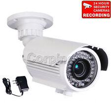 Security Camera w/ SONY Effio CCD Varifocal Zoom Len Night Vision IP66 Power A09