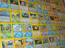Pokemon Full UNCUT Card Sheet NEO GENESIS Common Set WOTC Pikachu