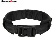Tactical Military  Nylon Security Duty Belt With Waist Protection Pad Cushion UK