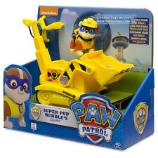 Paw Patrol Super Rubble Basic Vehicle Bulldozer Crane Brand New