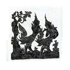"""Thai Temple Rubbing - Black - Mythical Beings - 24"""" x 24"""" -               2412BL"""