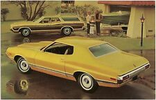 1972 Ford Gran Torino Hardtop and Station Wagon Automobile Advertising Postcard