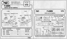 CMK CZECH MASTER'S KITS 7021 - P-40M/N INTERIOR SET - 1/72 RESIN KIT