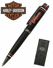 Harley Davidson Full Throttle Series #HDBP-1829 / Black Texture Ball Point Pen