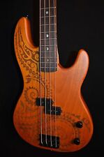 Luna Tattoo Full Scale 4 String Electric Bass Guitar - Free Shipping!