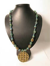 Bella ethnokette Togo d2 Perline Ghana riciclaggio glass Brass Beads afrozip