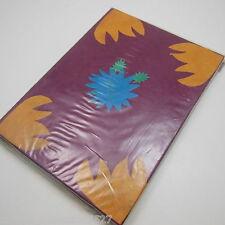 Purple Flower Embedded Handmade Lokta Paper Notebook Diary Journal Sketchbook