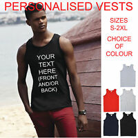 CUSTOM PERSONALISED ATHLETIC MENS VEST STAG HOLIDAY T SHIRTS