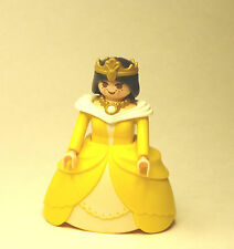 Playmobil Figure Princess Castle Queen w/ Yellow Hoop Skirt Crown 3033
