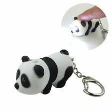 Baby Panda Key Chain Ring with LED Light and Animal Sound