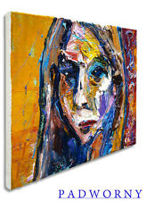PORTRAIT ORIGINAL OIL PAINTING ON ORIGINAL EXPRESSIONIST ART OIL PAINTING POP AN