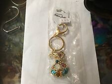 VASE GOLD TONE CRYSTAL BLING KEYRING KEY CHAIN GIFT FASHION NEW