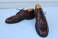Vintage W.B. Bootmaker Wingtip Oxford Shoes Brown Size 11C Made In USA Dress