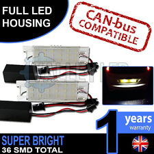 Grande Punto 08-on Complete LED Number Plate Housings Canbus Super Bright