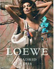 PUBLICITE ADVERTISING  026 2010  Loewe Madrid  collection sac
