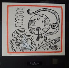 RARE KEITH HARING AGAINST ALL ODDS LITHOGRAPH estate authenticated rare ed 500