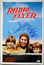 RICHARD DONNER SIGNED Radio Flyer 11X17 CANVAS PHOTO DIRECTOR PSA