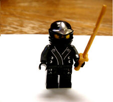 Lego Ninjago black cole Kimono ninja minifigure with golden sword 70502 new