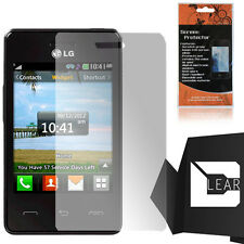 For TracFone LG 840G Clear LCD Screen Protector Guard with Cleaning Cloth