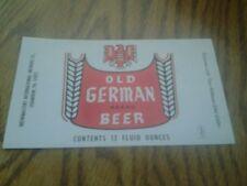 OLD GERMAN BRAND BEER LABEL SHAMOKIN,  PA. BREWMASTERS INTERNATIONAL